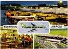 Ansichtskarte Shannon Flughafen Innenansicht Flugbild Landebahn Irland Eire