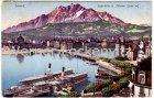 Ansichtskarte Luzern Seebrücke mit Pilatus