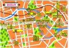 Ansichtskarte Berlin Landkarte Stadtplan Straßen maps