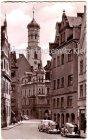 Ansichtskarte Memmingen Kalchstraße mit Kreuzherrnturm
