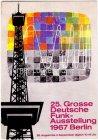 Ansichtskarte Berlin 25. Grosse Deutsche Funkausstellung mit Sonderstempel