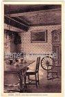 Ansichtskarte Insel Sylt Aus dem Altfriesischen Hause mit Kaffeetisch Standuhr und Spinnrad