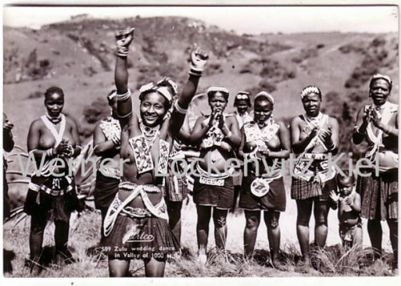 Postcard South Africa Durban Valley of 1000 Hills Zulu wedding dance