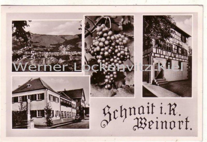 Ansichtskarte Weinstadt-Schnait Gasthaus und Metzgerei zum Ochsen Bes. Eugen Gussenstätter