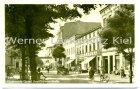 Ansichtskarte Fürstenwalde Spree Ernst-Thälmann-Straße mit Bürger Bräu und Drogerie