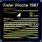 Metallplakette Kieler Woche 1987