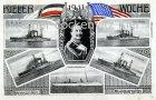 Ansichtskarte Kiel Kieler Woche U.S.S. Luisiana Kansas South Carolina New Hampshire Das Amerikanische Geschwader