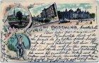 Ansichtskarte Dortmund Fredenbaum Kaiserstrasse Landgericht Vehmlinde All Heil Litho