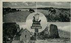 Ansichtskarte Schleswig Haithabu Ansgarkirche Stadtmauerwall Runenstein