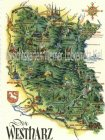 Ansichtskarte Der Westharz Landkarte map Wappen