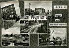 Ansichtskarte Berlin Mauer und Stacheldrahtgrenze