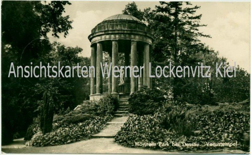 Ansichtskarte Wörlitz Venustempel mit Landpoststempel Jütrichau