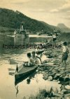 Ansichtskarte Auf der Elbe Zwischen Brocken und Oybin Aus dem Kalender Kanuten