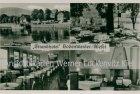 Ansichtskarte Bodenwerder Strandhotel Zur Weser Bes. Ed. Maneke Außen-und Innenansicht