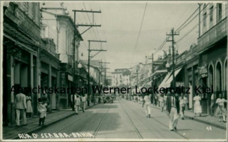 Ansichtskarte cartão-postal Brasil Brasilien Salvador da Bahia Rua D'Seabra