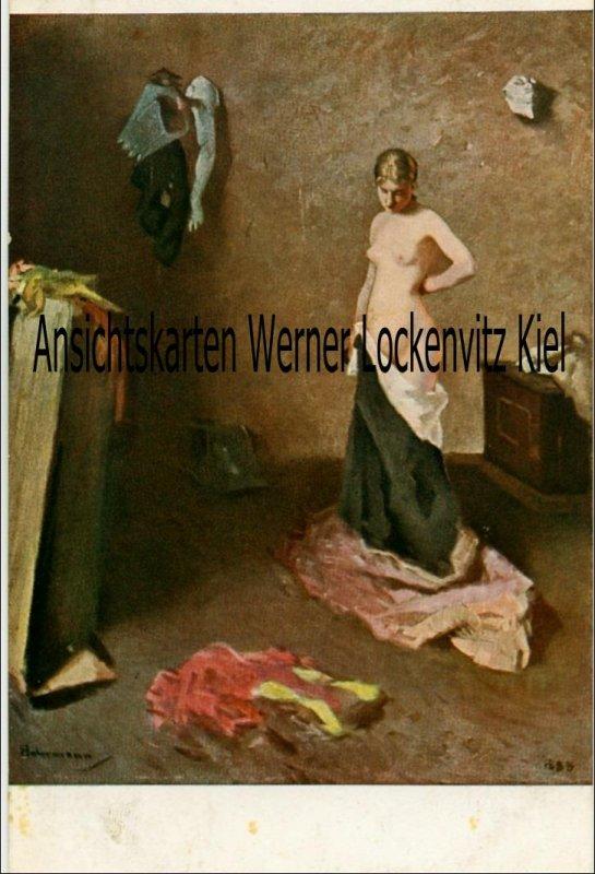 Ansichtskarte Das Modell Jugend-Postkarte sign. von Habermann