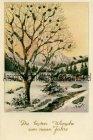 Ansichtskarte Die besten Wünsche zum neuen Jahre Glimmer