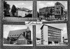 Ansichtskarte Hildesheim Neustädter Markt Hauptpostamt Stadttheater