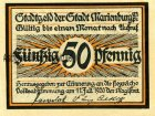 Notgeldschein Marienburg Westpreußen 50 Pfennig