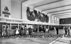 Ansichtskarte Pforzheim Bahnhof Empfangshalle Werbung Monninger Bier