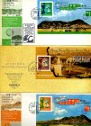 China Hongkong 3 x Briefmarken Blöcke