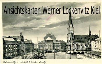 Ansichtskarte Chemnitz Adolf-Hitler-Platz
