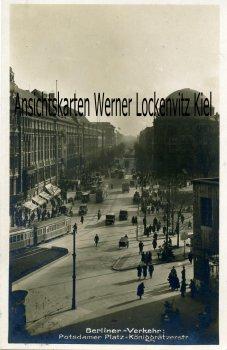 Ansichtskarte Berlin Potsdamer Platz-Königgrätzerstr. Berliner-Verkehr Straßenbahn