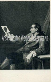 Ansichtskarte Frankfurt am Main Goethe 27 Jahre alt mit Schattenriss Silhouette Scherenschnitt