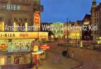 Ansichtskarte Hamburg-St. Pauli Reeperbahn mit Santa Fe und Zillertal Nachtaufnahme