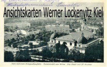 Ansichtskarte Litauen Wilna Vilnius Blick auf die Stadt