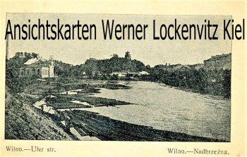 Ansichtskarte Litauen Wilna Wilno Vilnius Uferstr.