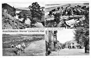 Ansichtskarte Hitzacker Beim Verkehrspavillon Badestrand Ortsansicht