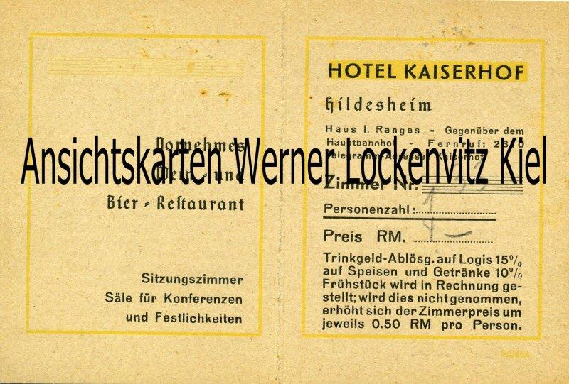 Hildesheim Hotel Kaiserhof  Hotel-Bestimmungen