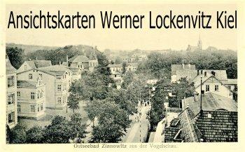 Ansichtskarte Zinnowitz auf Usedom Blick über den Ort