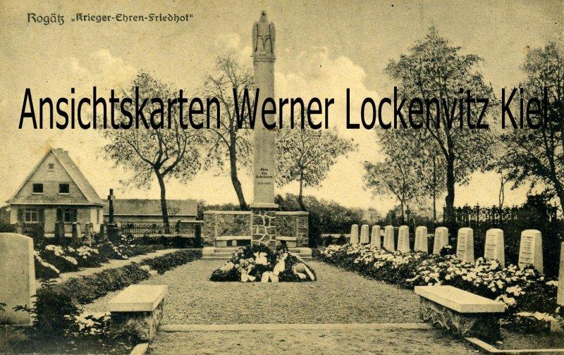 Ansichtskarte Rogätz Krieger-Ehren-Friedhof