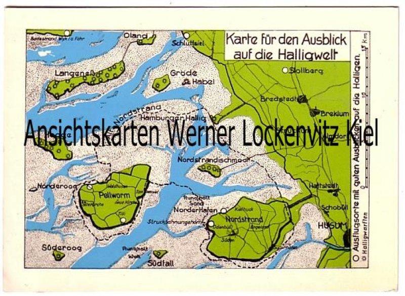 Pellworm Karte.Ansichtskarte Langeness Pellworm Nordstrand Hooge Karte Fur Den Ausblick Auf Die Halligwelt Bei Hohlebbe Landkarte Maps