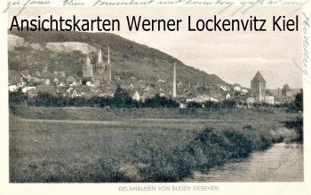 Ansichtskarte Gelnhausen von Süden gesehen