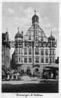 Ansichtskarte Memmingen Rathaus mit Wochenmarkt
