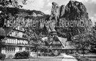 Ansichtskarte Bad Münster am Stein Bäderhaus mit Rheingrafenstein