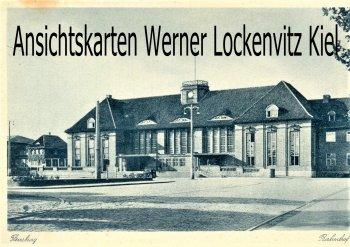 Ansichtskarte Flensburg Bahnhof