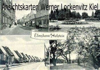 Ansichtskarte Elmshorn Mommsenstraße Königstraße Schwedenschanze