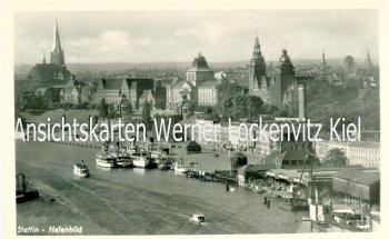 Ansichtskarte Polen Pommern Stettin Szczecin Hafenbild