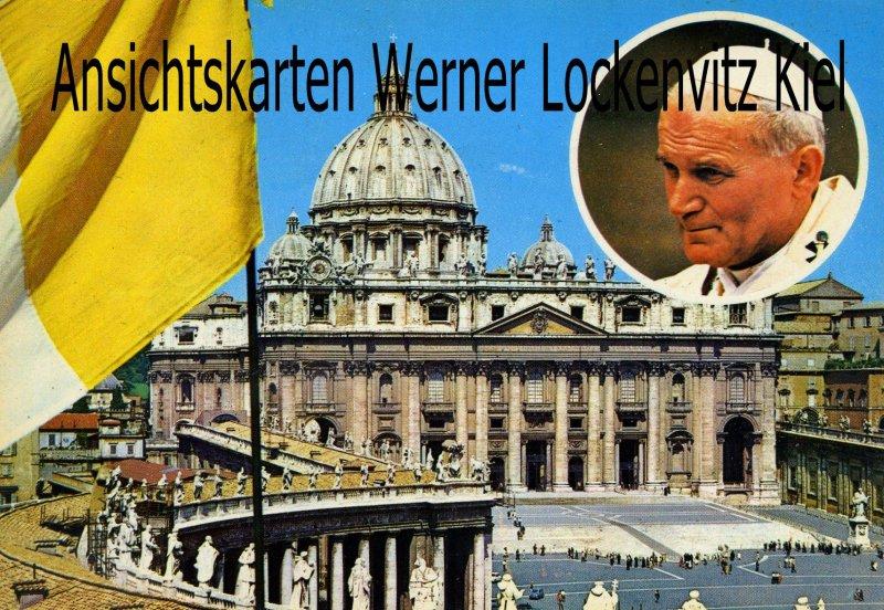 Ansichtskarte Cartolina Italia Vatikan Polen Papst Johannes Paul II.