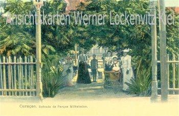 Ansichtskarte Postcard Karibik Niederlande Curacao Entrada de Parkque Wilhelmine