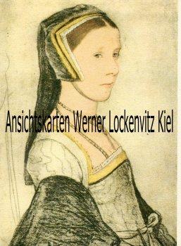 Ansichtskarte Anna Cresacre Gemälde von Hans Holbein Verlag Woldemar Klein Baden-Baden