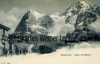 Ansichtskarte Ortsansicht mit Zug Schweiz Wengernalp Bern