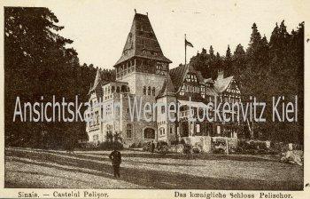 Ansichtskarte Rumänien Sinaia Prahova Schloss Pelischor