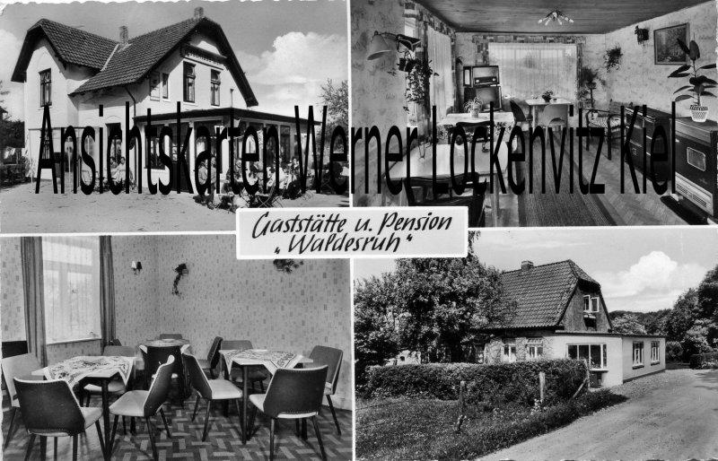 Ansichtskarte Reinfeld Gaststätte und Pension Waldesruh Inh. Rüdiger Willers