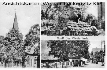 Ansichtskarte Burgdorf-Westerlinde Kirche Ortsansicht mit LPStpl.