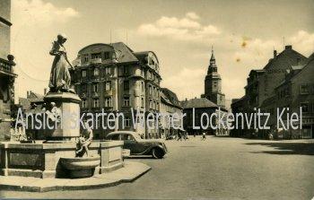 Ansichtskarte Döbeln Roter Platz